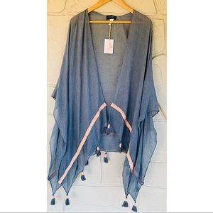 Jessica Simpson boho embroidered kimono one size